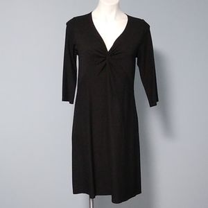 Eileen Fisher black modest midi dress size medium